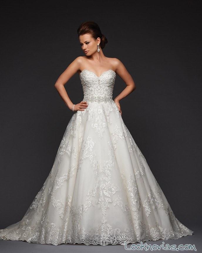vestido corte A de bonny bridal