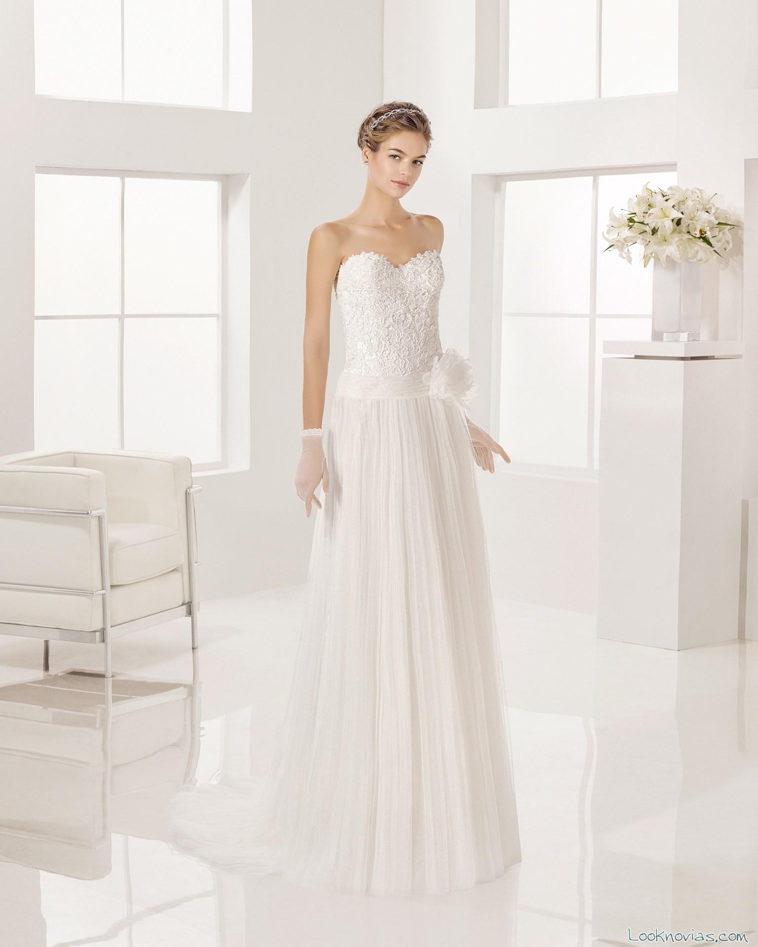 vestido corte corazón de alma novia