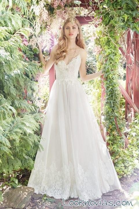 vestido corte evasé color blanco alvina valenta