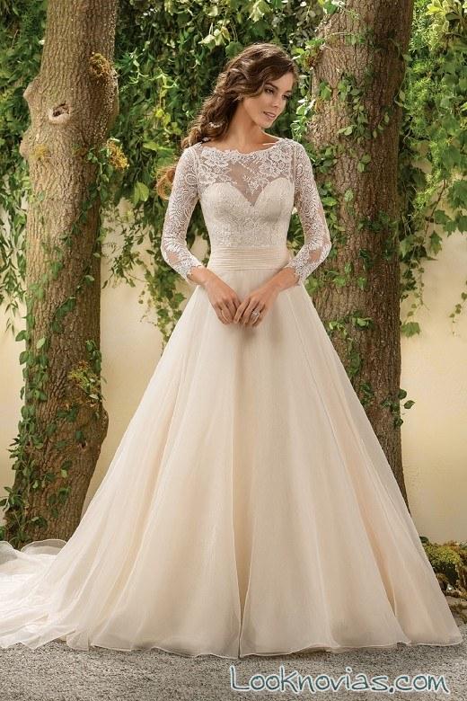 vestido corte evasé de jasmine bridal