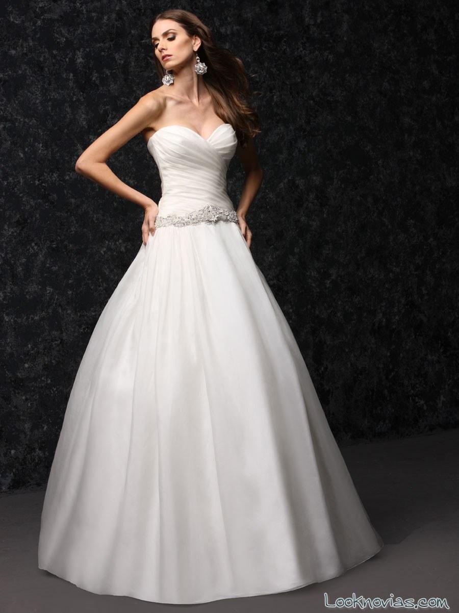 vestido corte princesa sencillo de harper