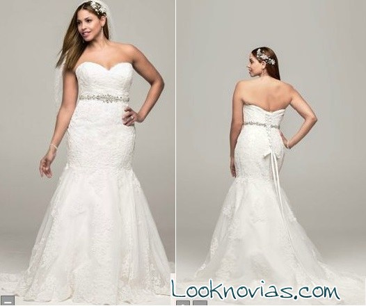 Vestido corte sirena David´s Bridal