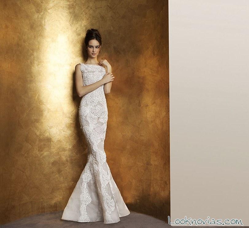 vestido corte sirena de antonio riva