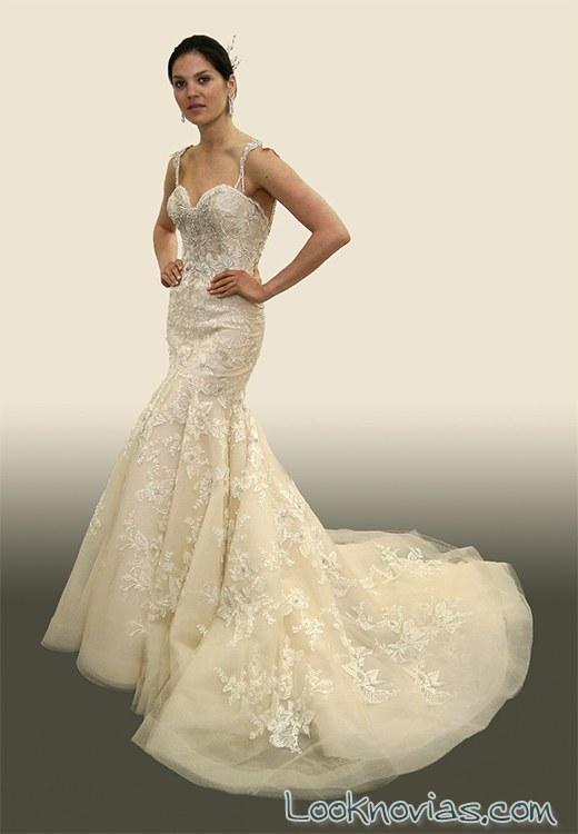 vestido corte sirena de lujo