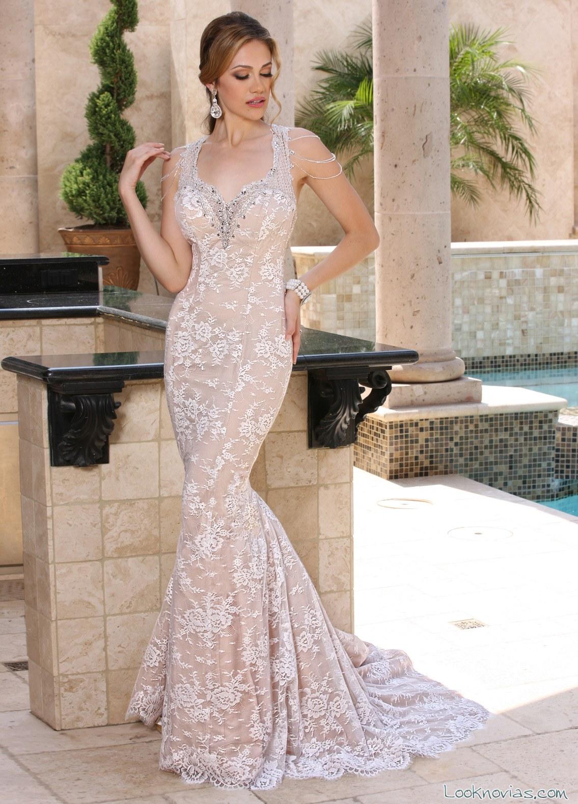 vestido corte sirena en color de da vinci