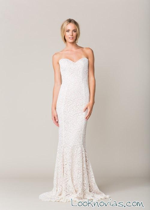 vestido corte sirena encajes novias