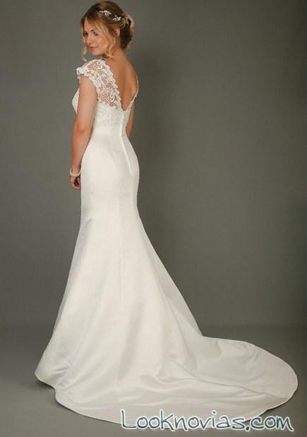 vestido corte sirena escote en la espalda de eden bridals