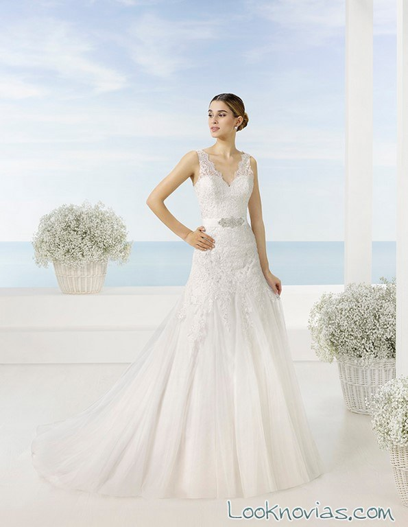 vestido corte sirena luna novias