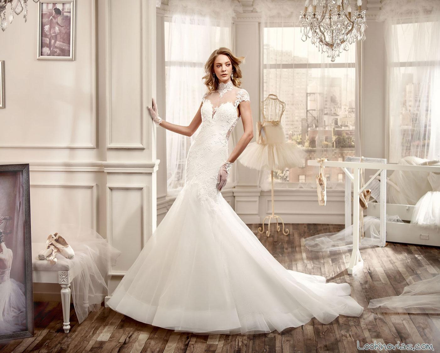 vestido corte sirena nicole spose