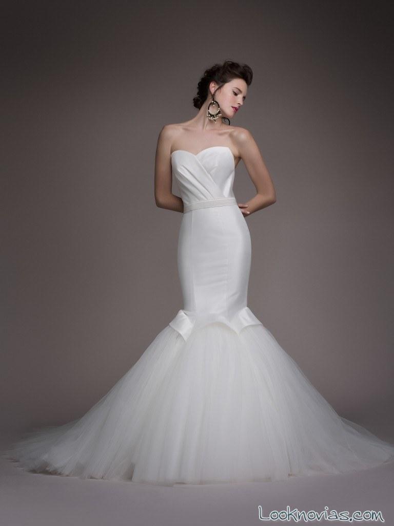 vestido corte sirena original blancary