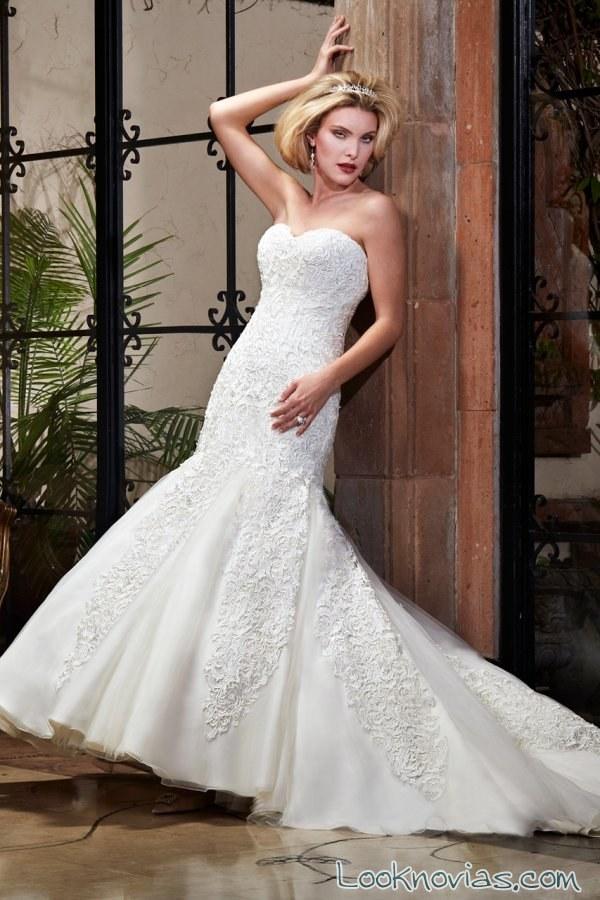 vestido corte sirena para novias mary´s bridal