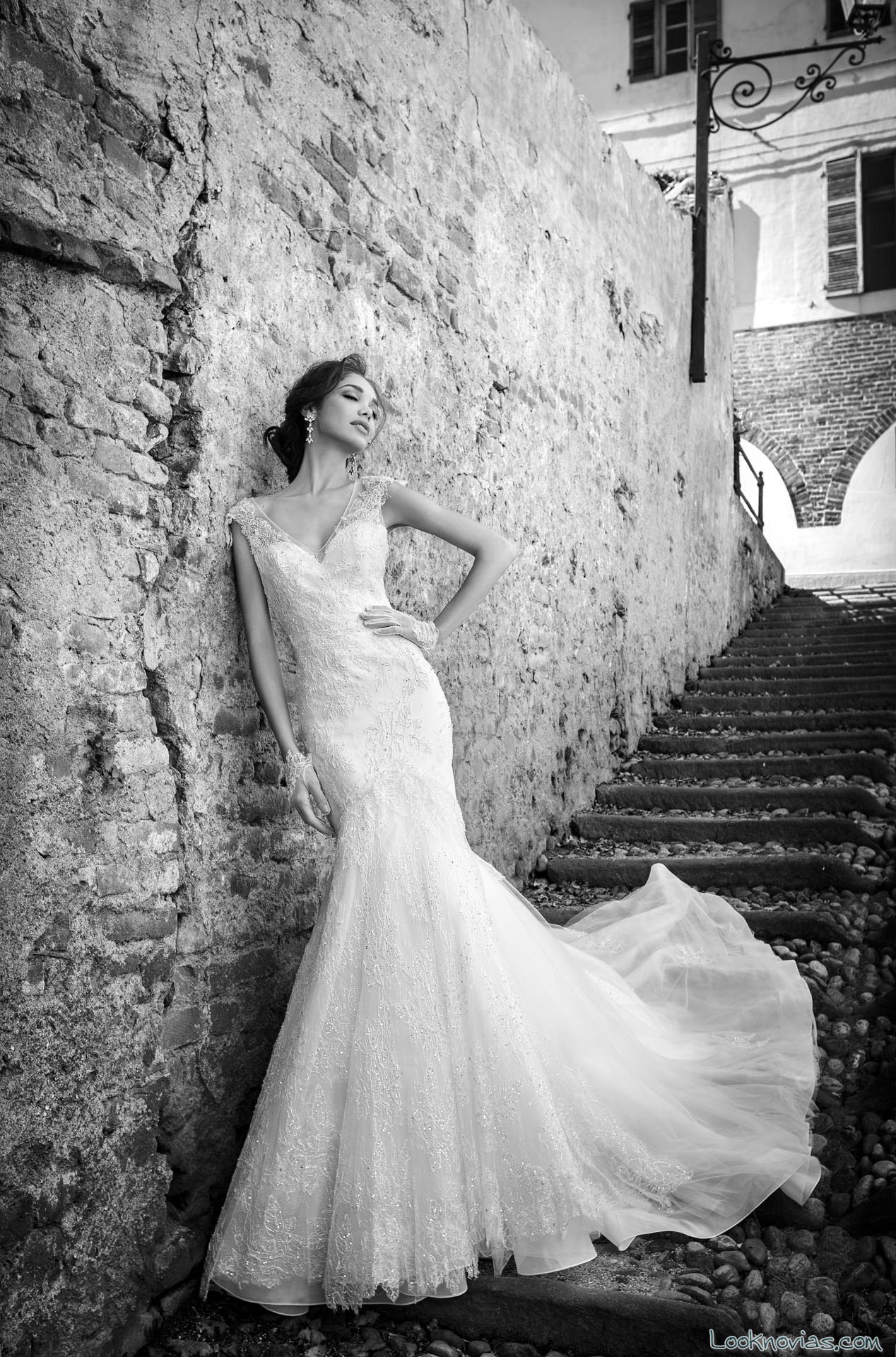 vestido corte sirena Rinaudo