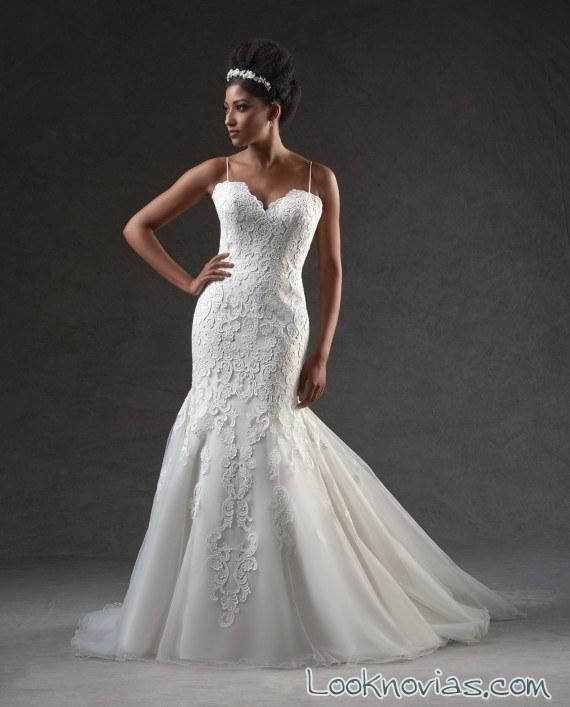 vestido corte sirena satinado bonny bridal