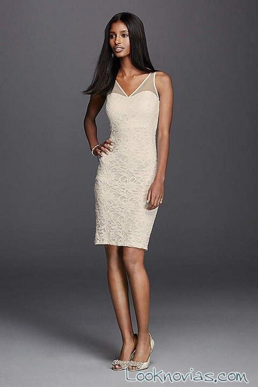 vestido corto de novia barato
