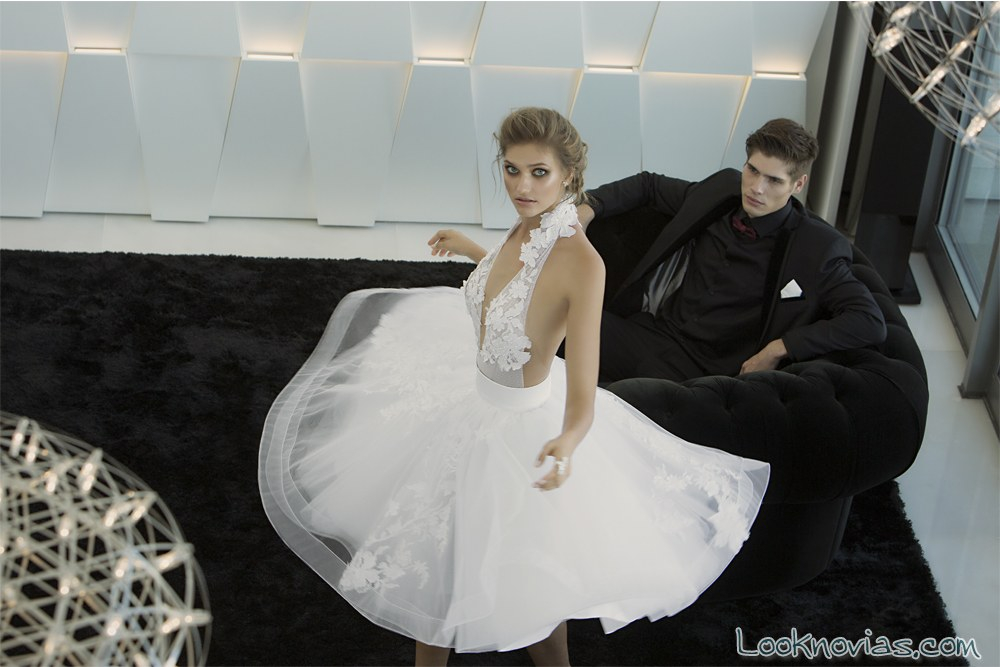 vestido corto de novia hadas cohen