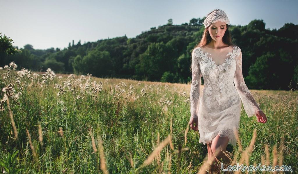 vestido corto de novia jenny lee