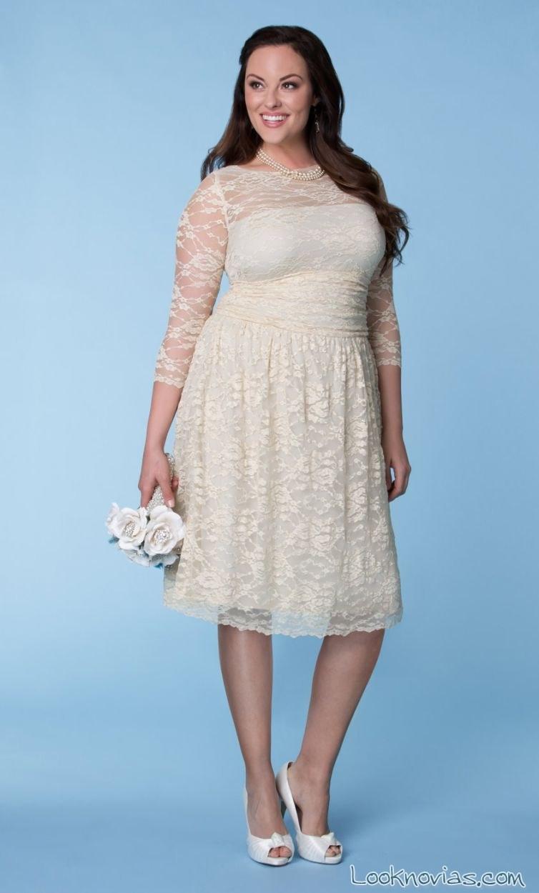 vestido corto de novia kiyonna