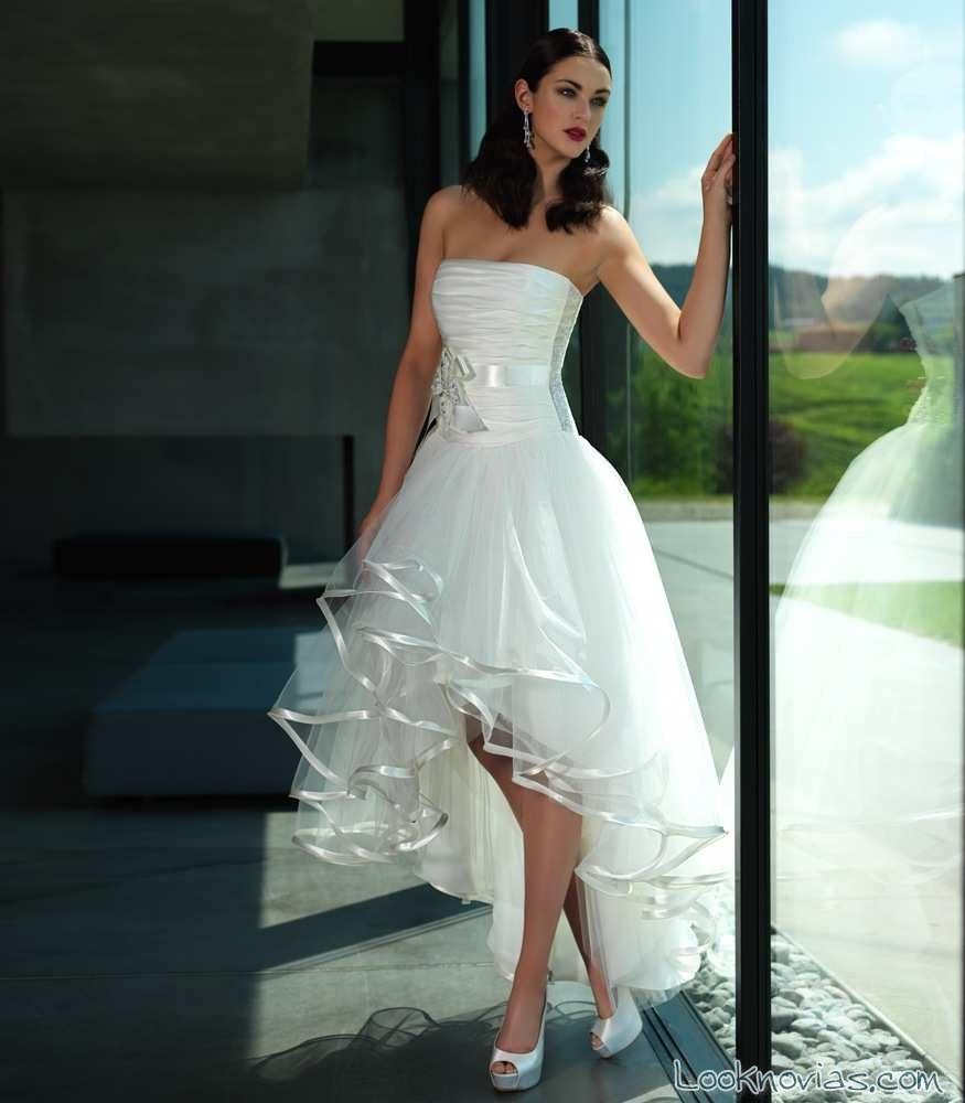 vestido corto de novia por valentini spose