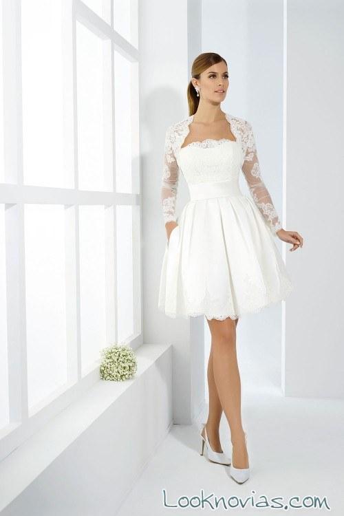 vestido corto just for you novias