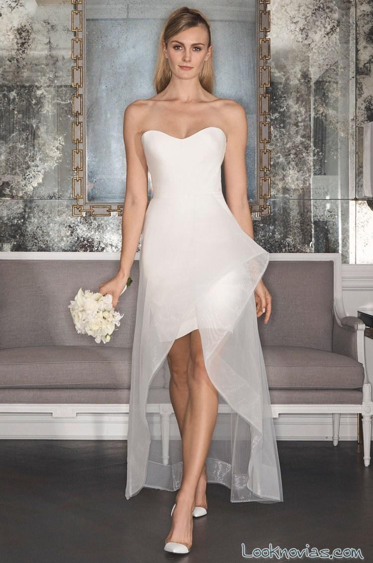 vestido corto romona keveza novias