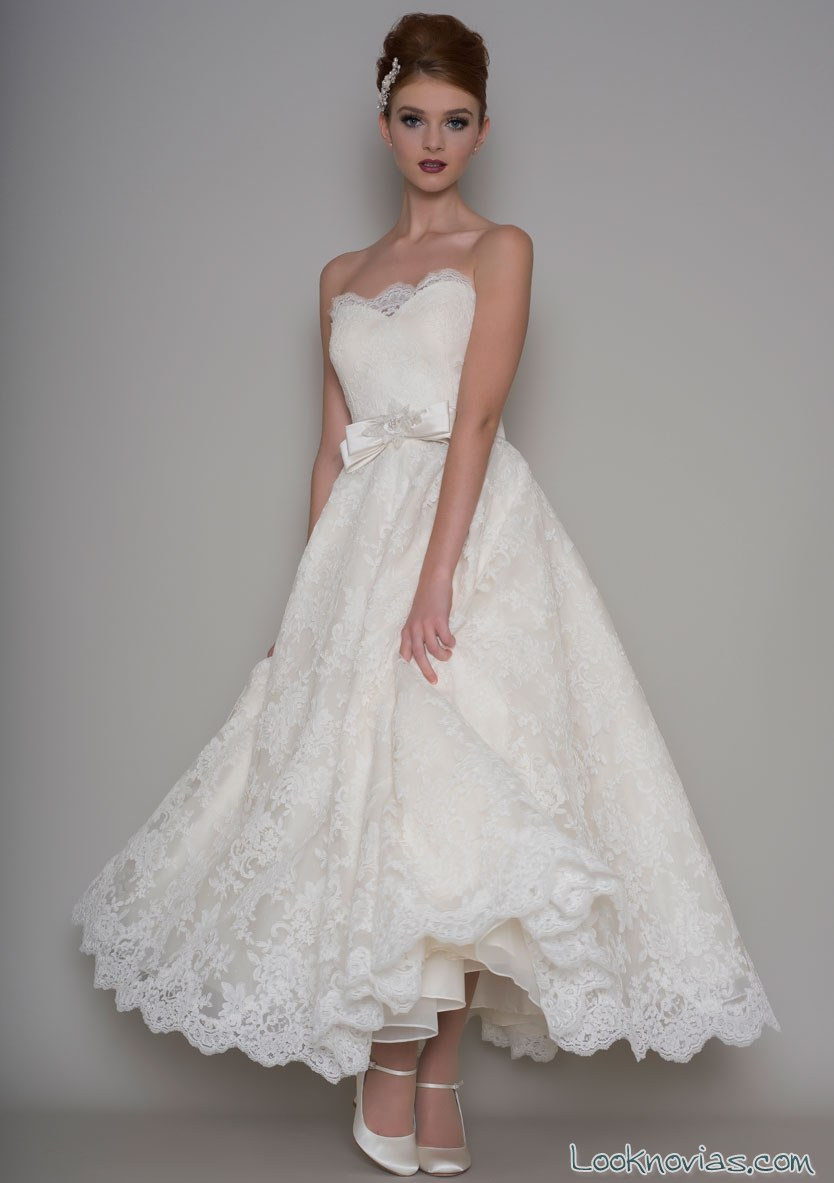 vestido corto vintage para novias