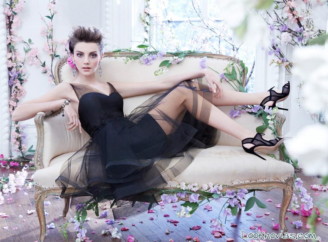 vestido cortos de invitadas en negro