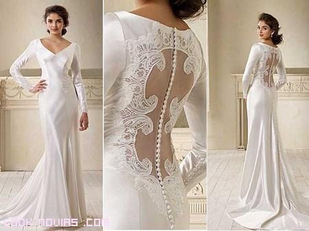 vestido novia bella de encaje y tul