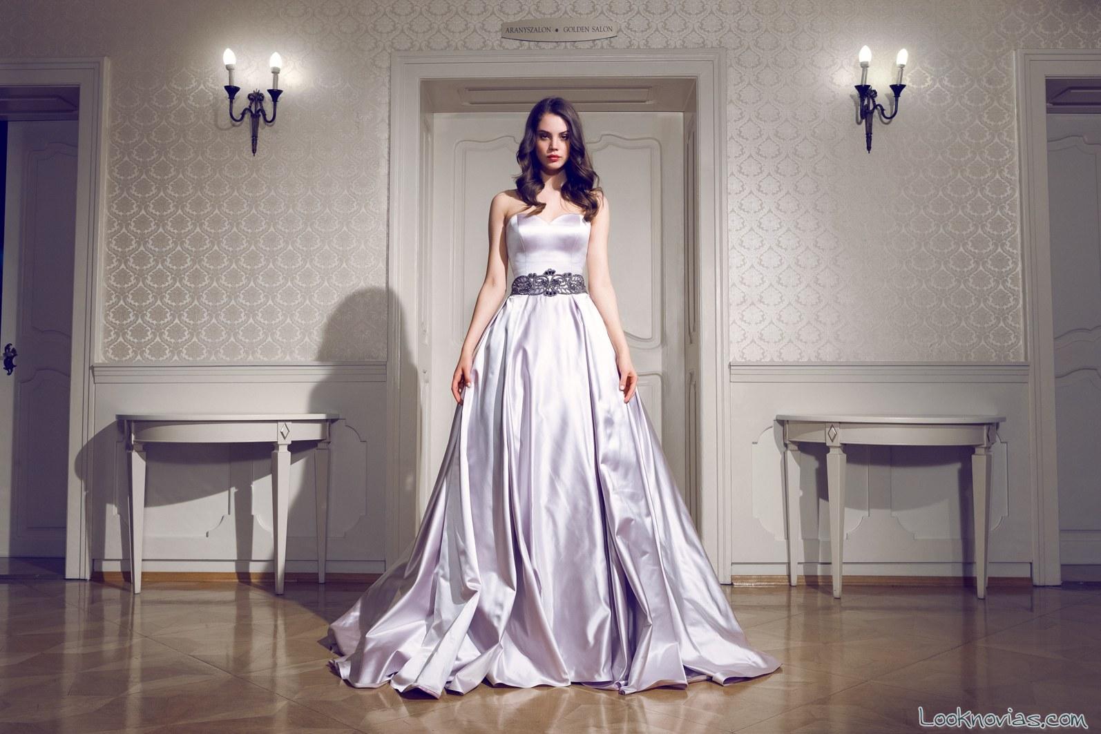 vestido daalarna tejido satinado