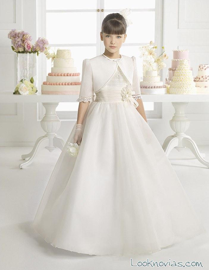 vestido de comunión Rosa Clará