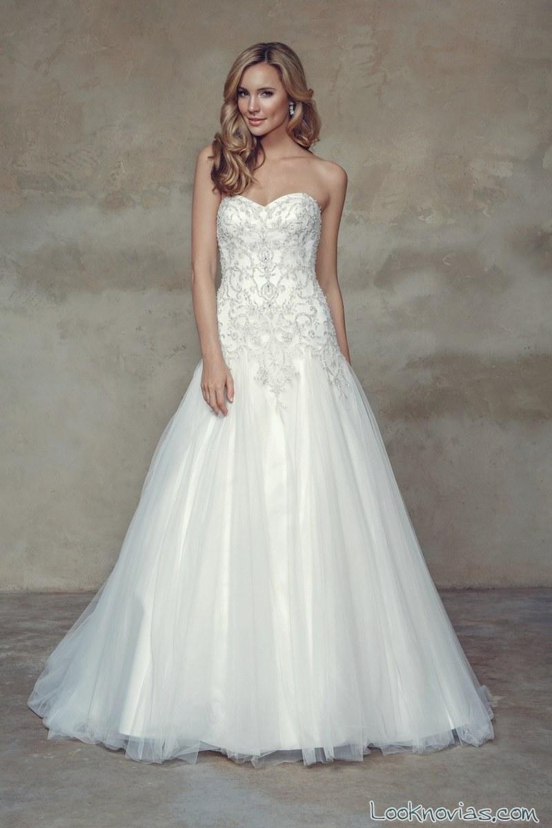 vestido de corpiño para novia de mia