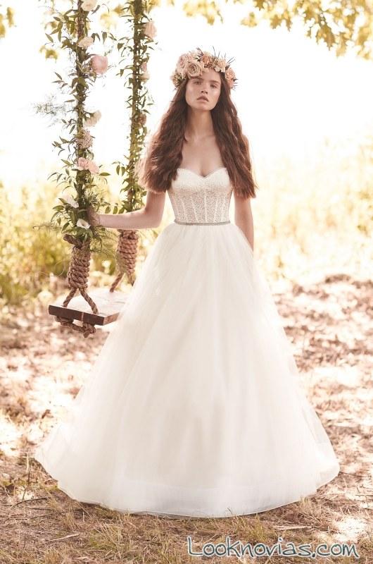 vestido de corte evasé mikaella bridal
