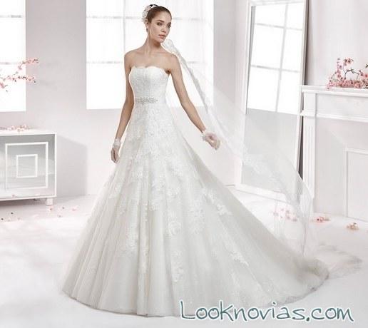 vestido de corte evasé para novias aurora