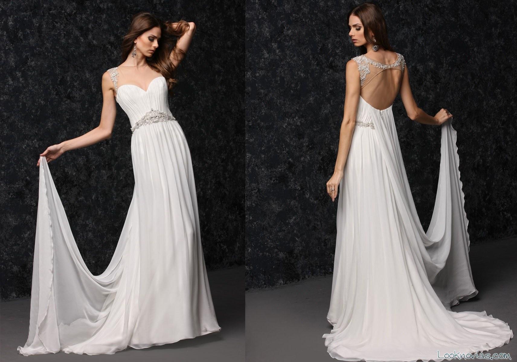 vestido de corte griego para novias victor harper