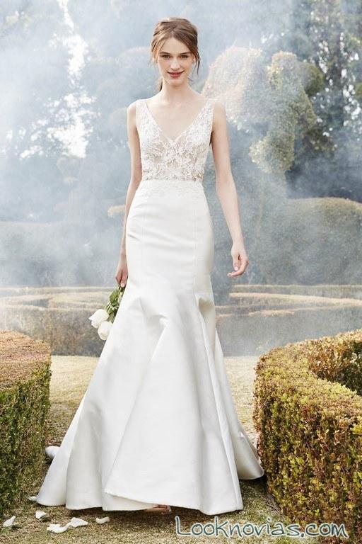 vestido de corte sirena monique l´huille novias