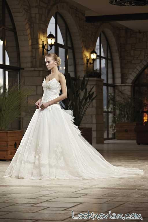 vestido de falda de gasa para novias madam burcu