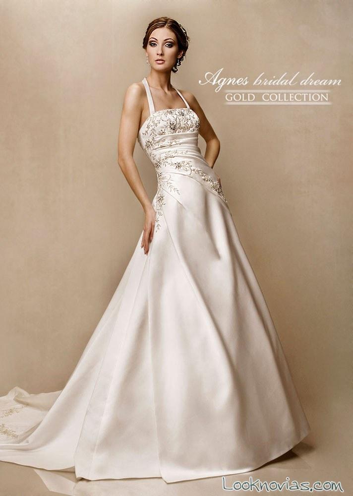 vestido de falda evasé agnes bridal
