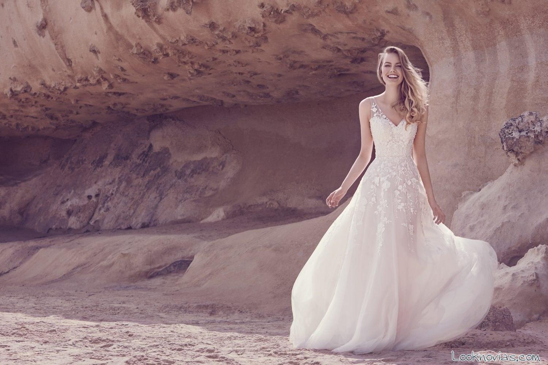 vestido de gasa novias ellis bridals