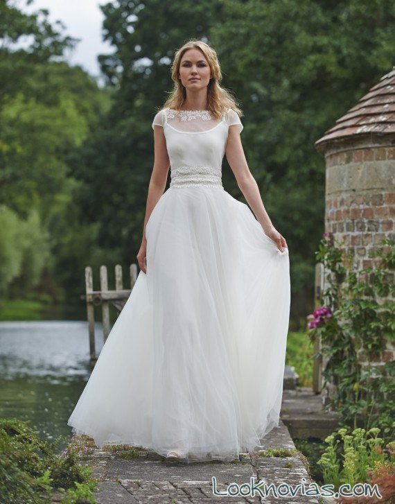 vestido de gasa para novias 2016