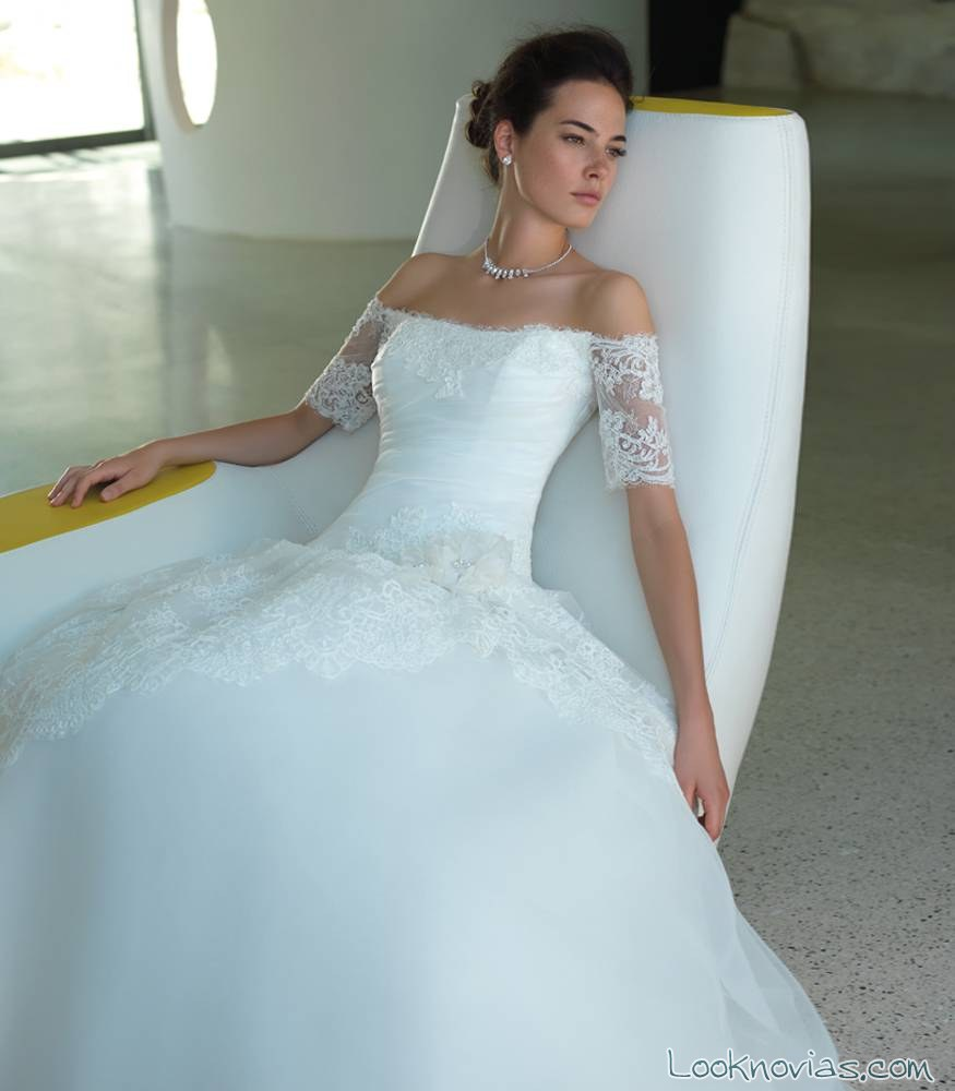 vestido de hombros caídos valentini spose