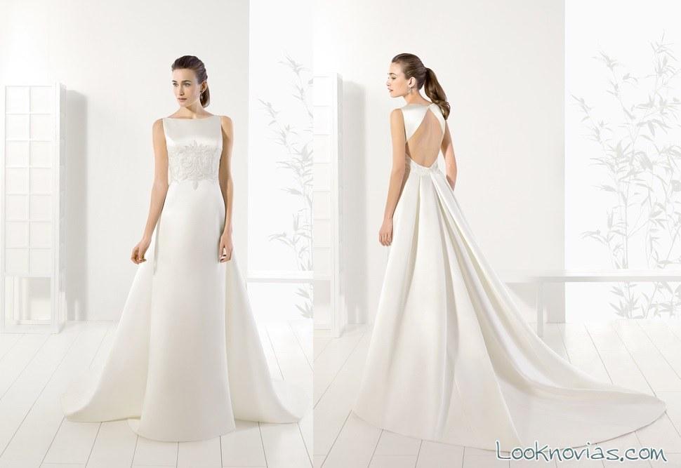 vestido de novia adriana alier con abertura en espalda
