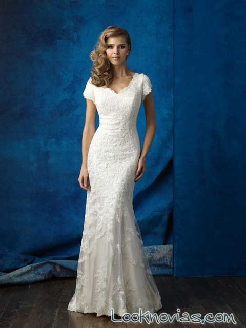 vestido de novia ajustado nueva colección
