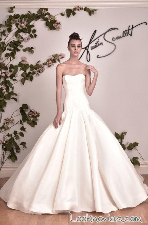 vestido de novia austin scarlett sirena con volumen