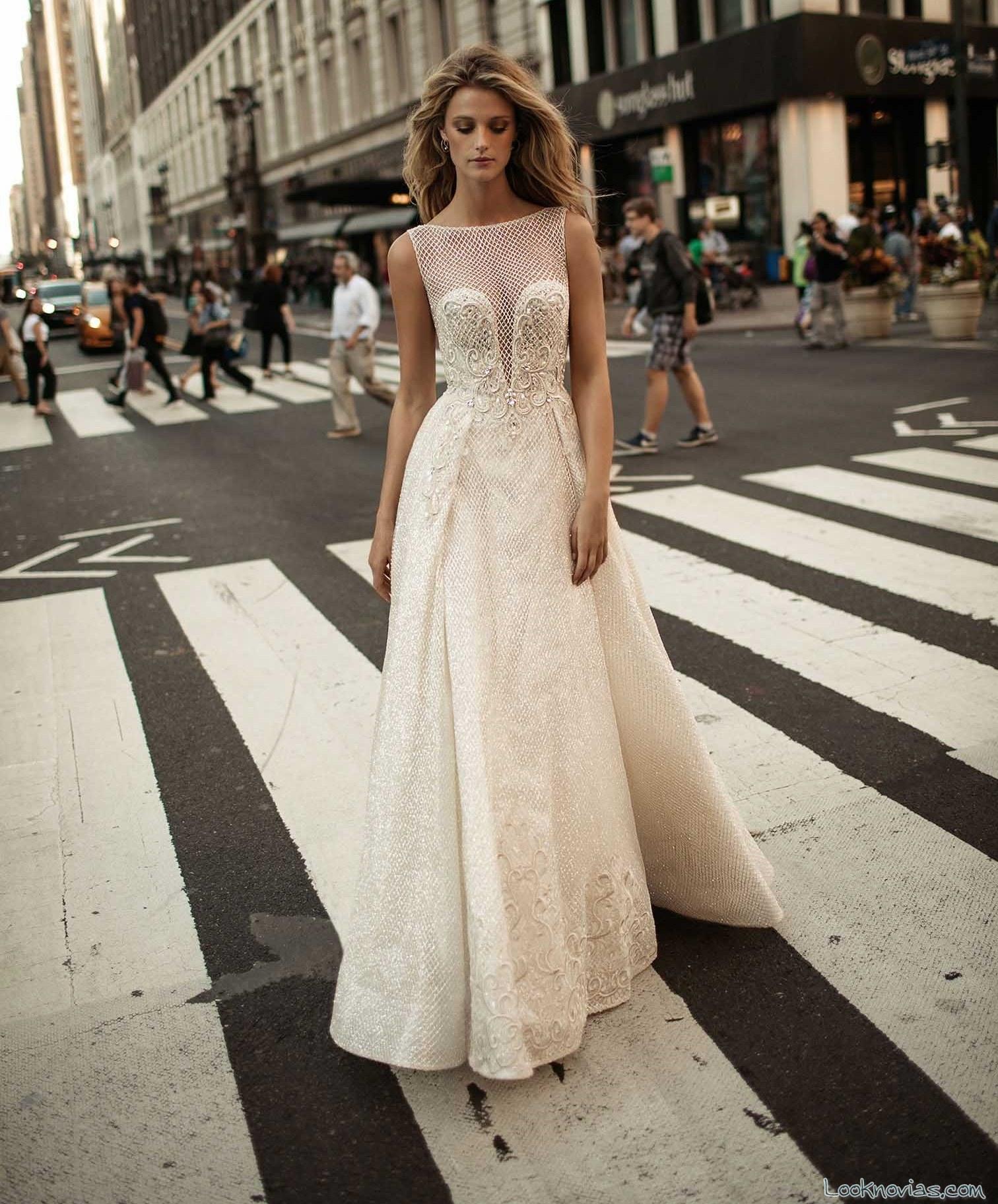 vestido de novia berta bridal falda capas