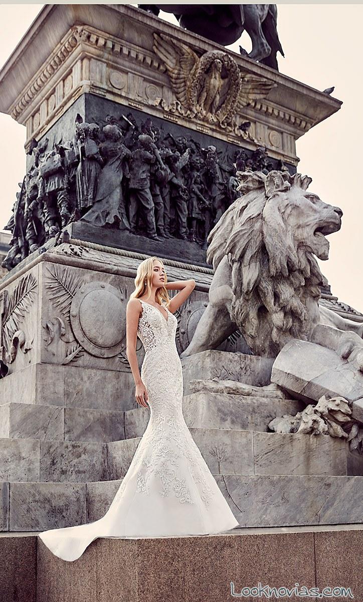 vestido de novia blanco eddy k