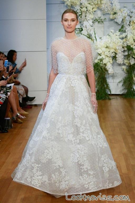 vestido de novia blanco monique lhuillier con bolero