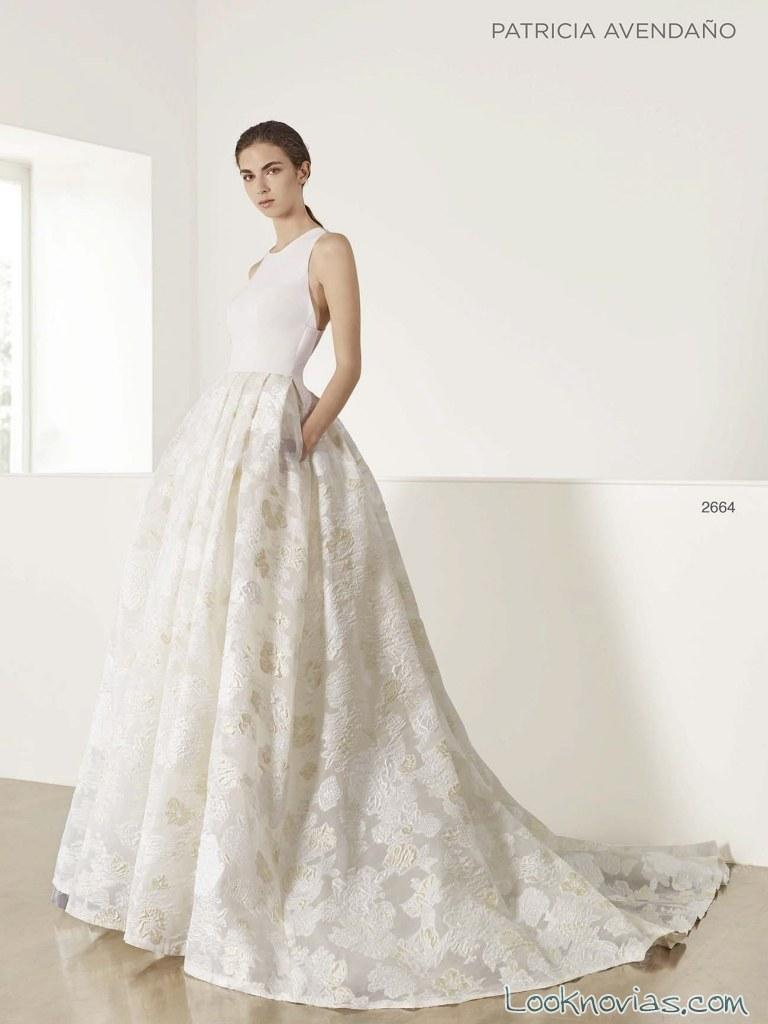 vestido de novia brocados patricia avendaño