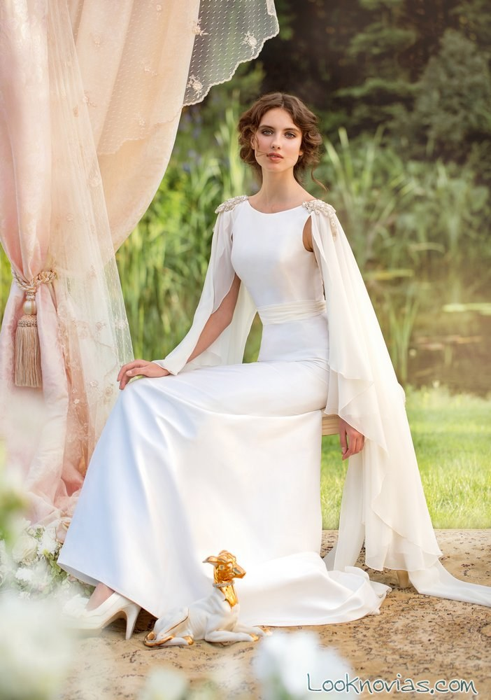vestido de novia capa