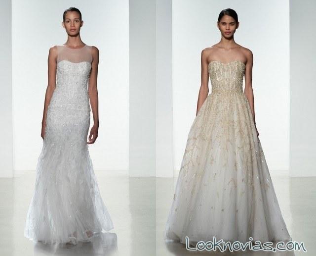 vestido de novia colección amsale