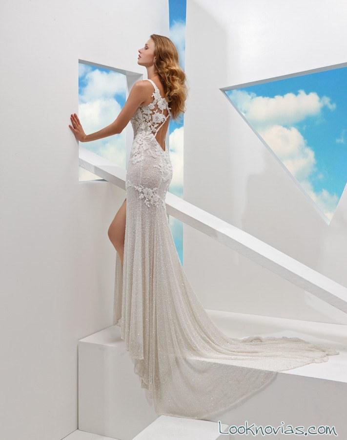 vestido de novia con abertura de valeria marini