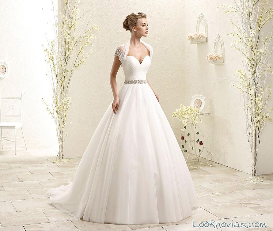 vestido de novia con bolero de eddy k